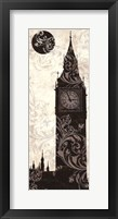 Moon Over London Framed Print