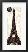 Moon Over Paris Framed Print