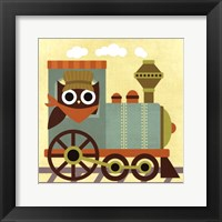 Owl Train Conductor Framed Print