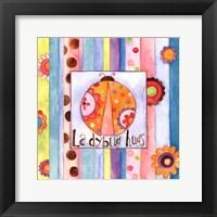 Ladybug Hugs Framed Print