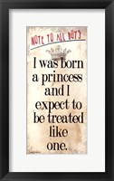 Framed Born a Princess
