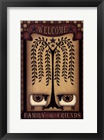 Framed Welcome Family & Friends