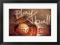Framed Play Ball