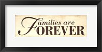 Framed Families are Forever