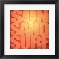 Framed Sun. Sand, Surf