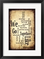 We Go Together Framed Print