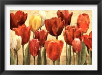 Framed Tulip Fantasy on Cream