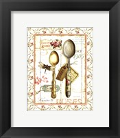 Rose Garden Utensils II Framed Print