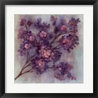 Framed Twilight Cherry Blossoms I