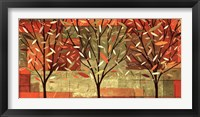 Framed Watercolor Forest II