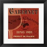 Red Label I Framed Print