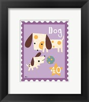 Animal Stamps - Dog Framed Print