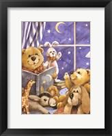 Framed Teddy Bear Storytime