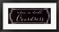Overdress Framed Print