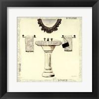 Emily's Boudoir II Sink Framed Print