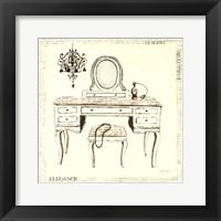 Framed Emily's Boudoir III Table