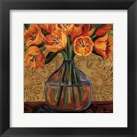 Framed Golden Tulips