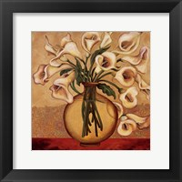 Framed White Autumn Lilies