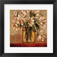 White Autumn Magnolias Framed Print
