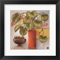 Framed Passion Fruit and Vase