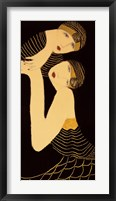 Framed Sisters in Black and Gold