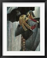 Framed L'Amour sous le Parapluie