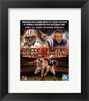 Framed Drew Brees breaks Johnny Unitas' half-century-old record October 7, 2012