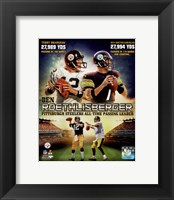 Framed Ben Roethlisberger Pittsburgh Steelers All-time Passing Leader Composite