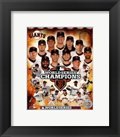 Framed San Francisco Giants 2012 World Series Champions Composite