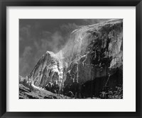 Framed Half Dome, Blowing Snow, 1955