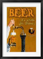 Framed Beer... It's What's for Dinner
