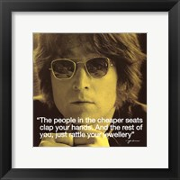 Framed John Lennon- Clap Your Hands