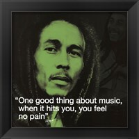 Framed Bob Marley- No Pain