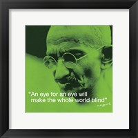 Framed Mahatma Gandhi- Blind World
