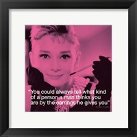 Framed Audrey Hepburn- Earrings