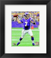 Framed Christian Ponder 2012 throwing the ball