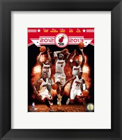 Framed Miami Heat 2012-13 Team Composite