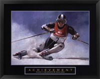 Achievement - Skier Framed Print