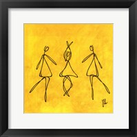 Joy - Yellow Dancers Framed Print