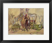 Framed Olive Oil Bottles