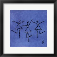 Framed Peace - Blue Dancers