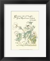 Framed Shakespeare's Garden I (Anemone)