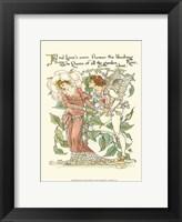 Framed Shakespeare's Garden III (Rose)
