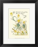 Framed Shakespeare's Garden IV (Daffodil)