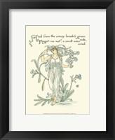 Framed Shakespeare's Garden VII (Forget me not)