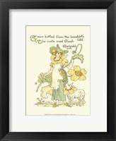Framed Shakespeare's Garden IX (Marigold)