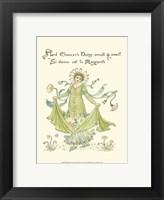 Framed Shakespeare's Garden X (Daisy)