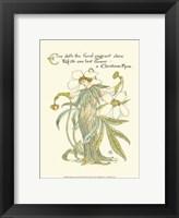 Framed Shakespeare's Garden XII (Christmas Rose)