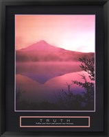 Truth - Misty Mountain Framed Print