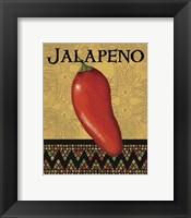 Framed Chili Peppers I